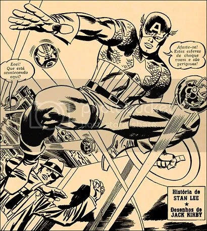 Capitão América e Nick Fury, por Jack Kirby - CLIQUE PARA AMPLIAR ESTA IMAGEM EM ALTA RESOLUÇÃO
