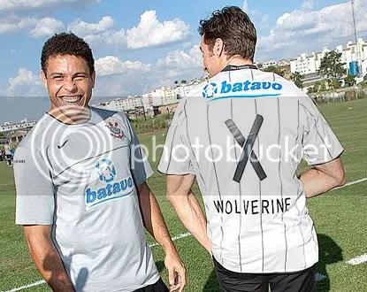 Ronaldo, do Corinthians, e Hugh Jackman, o Wolverine: encontro marcado! CLIQUE AQUI PARA AMPLIAR ESTA FOTO EM ÓTIMA RESOLUÇÃO