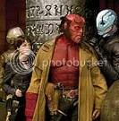 Johann (cuja voz é de SETH MACFARLANE), Liz (SELMA BLAIR), Hellboy (RON PERLMAN) e Abe (DOUG JONES) - CLIQUE PARA AMPLIAR ESTA FOTO