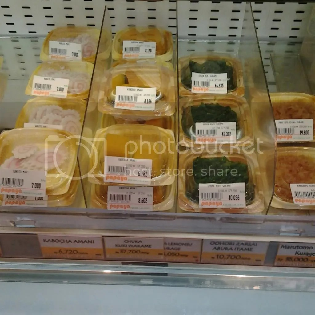 Aneka panganan asin jepang di Papaya