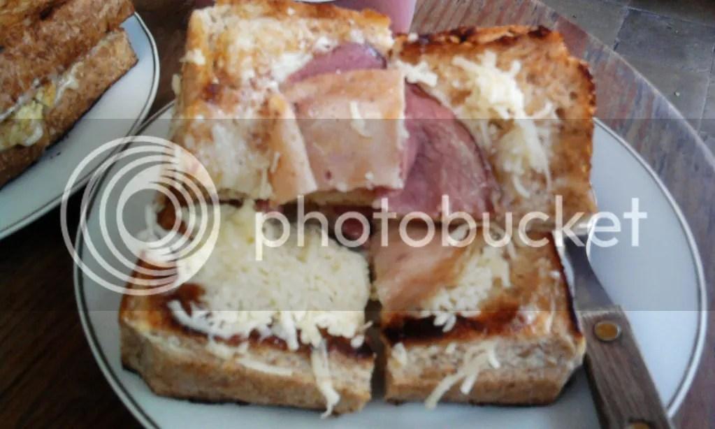 Roti Bakar Gandum Spesial (Daging + Keju)
