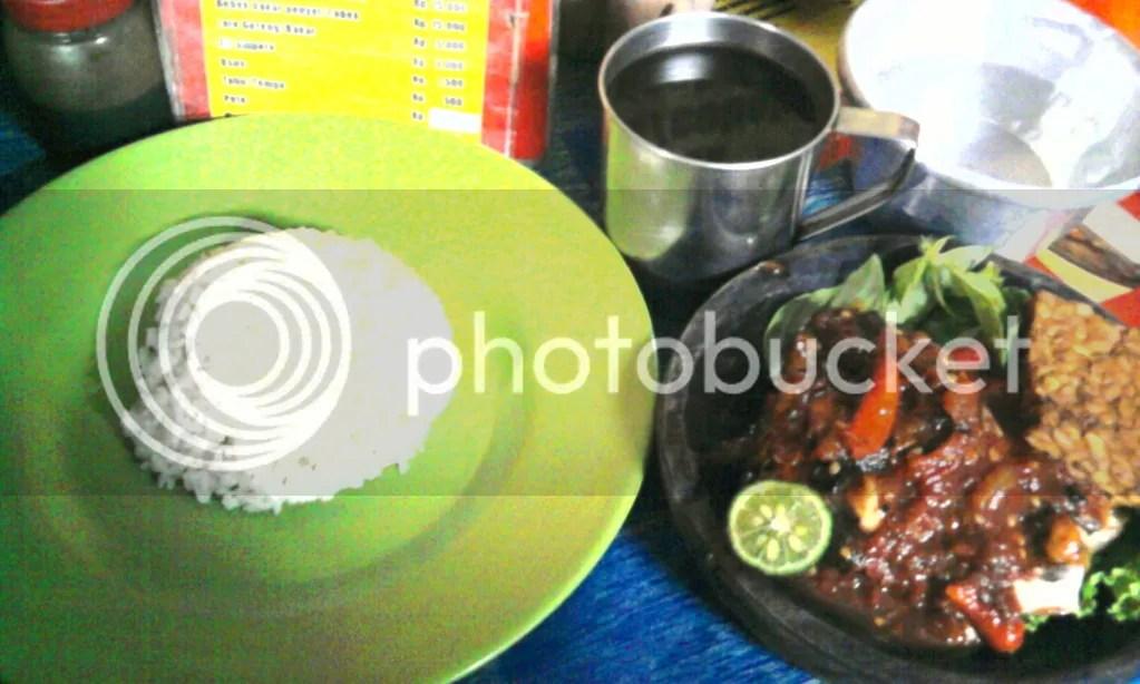 Ayam Bakar Cobek + Nasi + Tempe