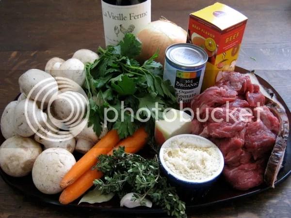 ingredients 3 Beef Burgundy