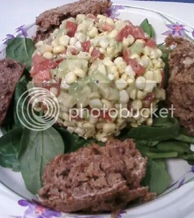 corn salad,raw entrees,mana bread,salads,raw recipes,raw food recipes,raw food diet