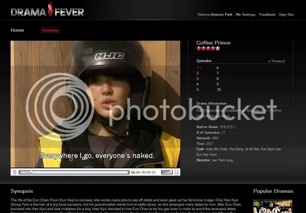 DramaFever drama page