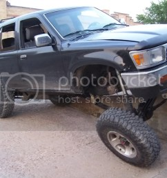 edit pic is with rear sway bar attached and hooked up killer b s 1992 4runner 1uzfe  [ 1024 x 768 Pixel ]
