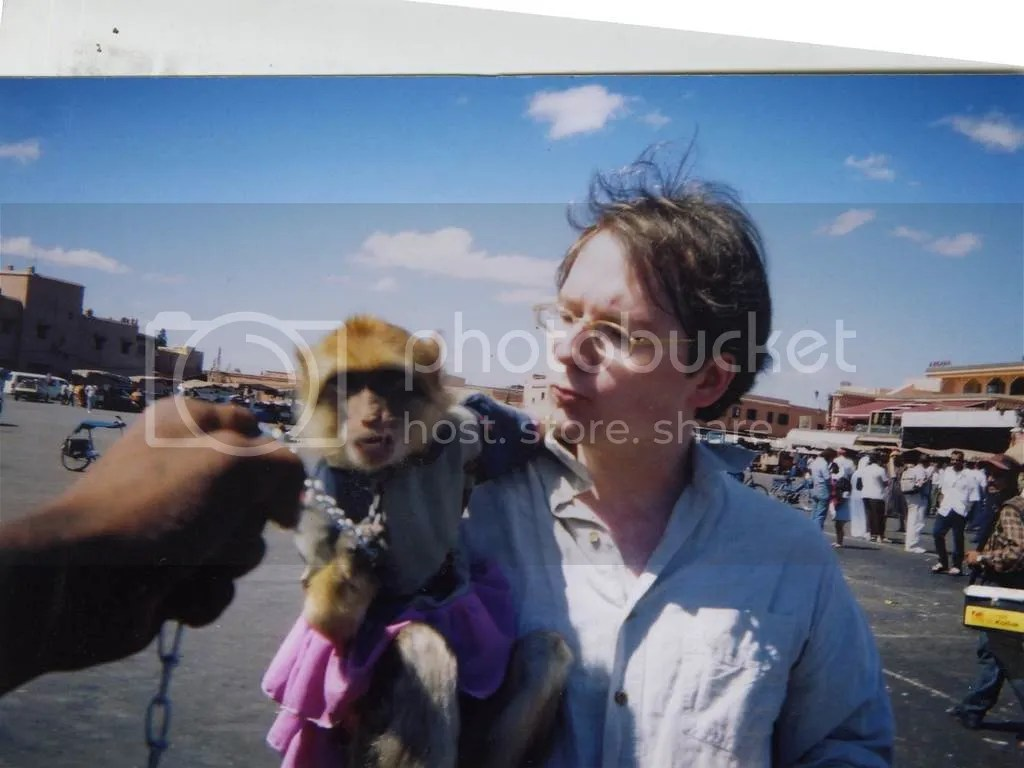 Me and my monkey in Marrakech