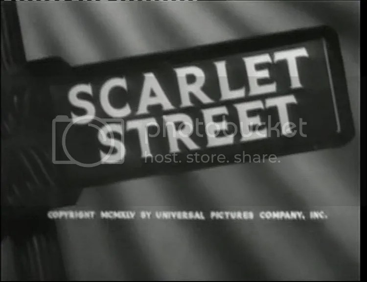 I'm goin down / To Scarlet Street