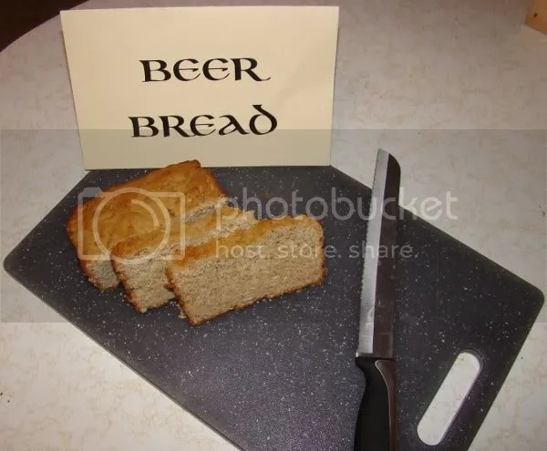 Beer Bread made with Blue Moon Harvest Moon Pumpkin Ale