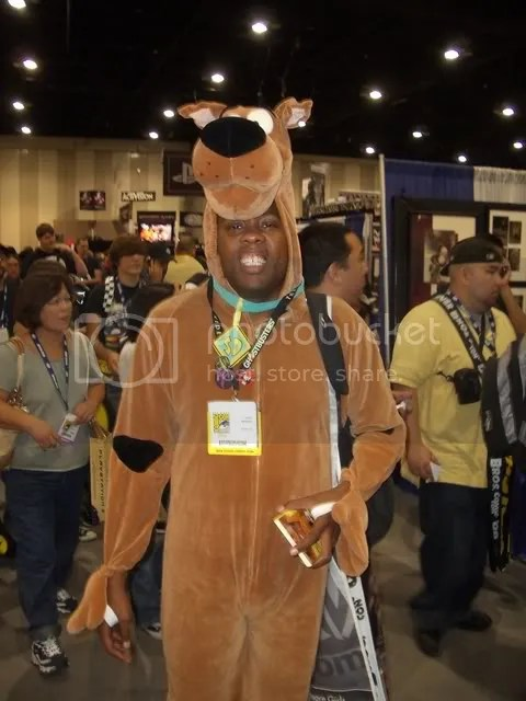 Any guy willing to come to a hot, crowded Con, dressed in a furry Scooby Doo costume just to promote his comedy act and website deserves the link.  Here you go - Andre Meadows!