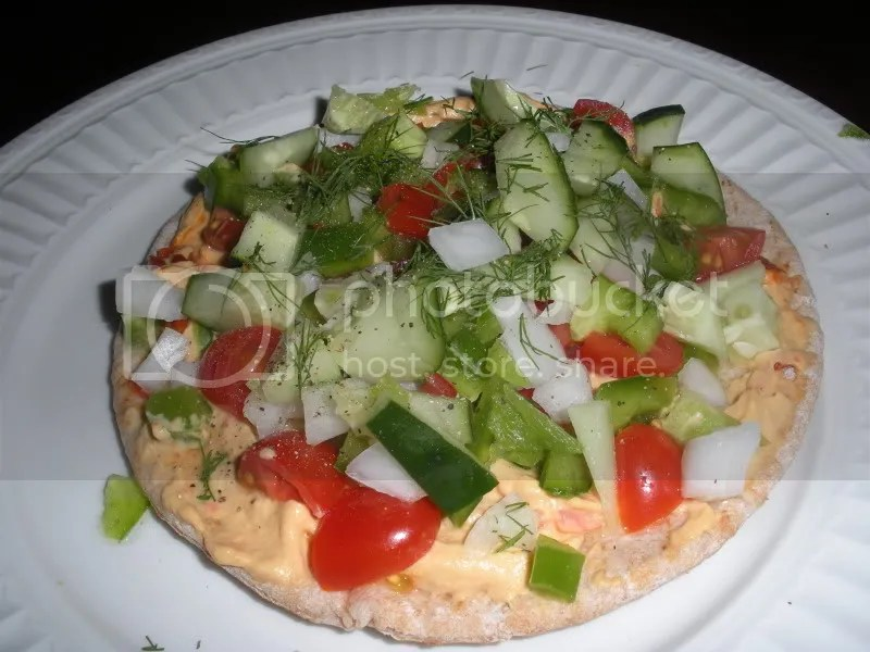 Middle Eastern Pita Pizza