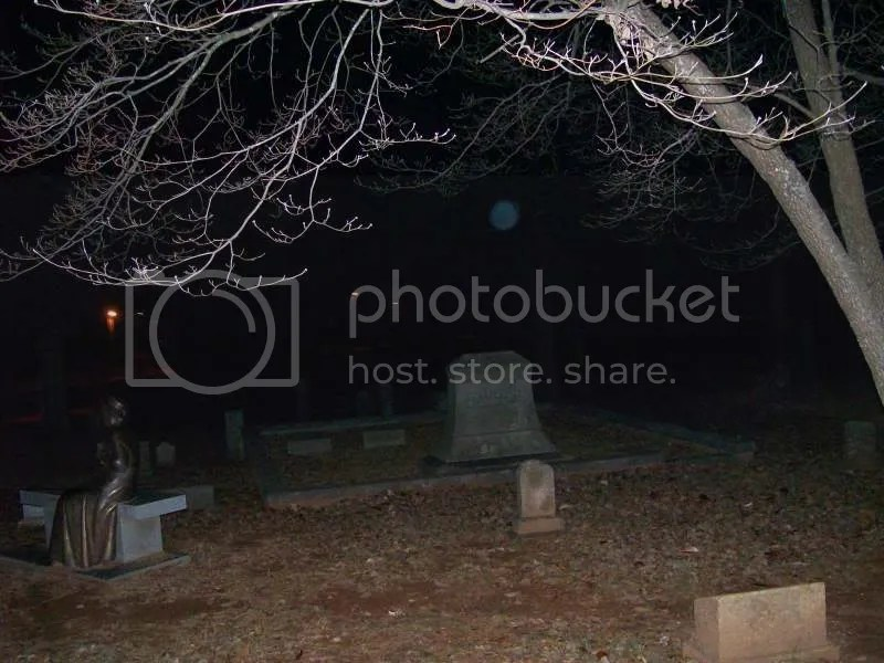Blue Ball of Light Orb Flying Through the Air at Confederate Cemetery in Marietta, Georgia