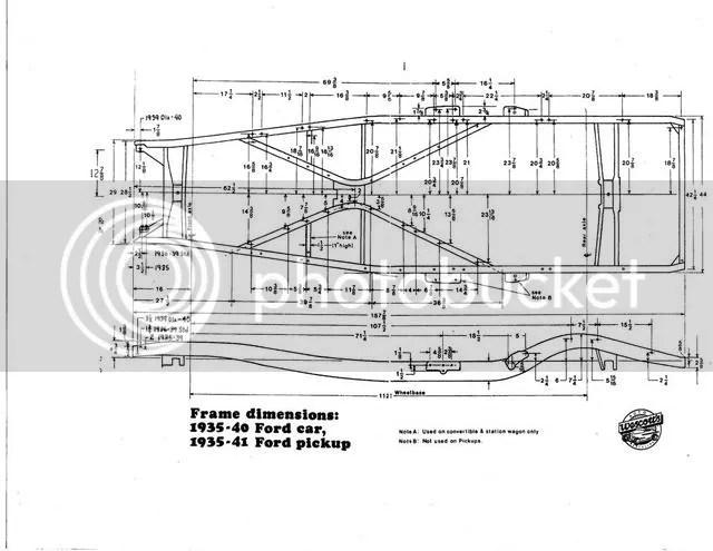 1935 Ford frame measurements