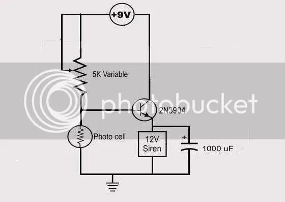 Laser Alarm Circuit