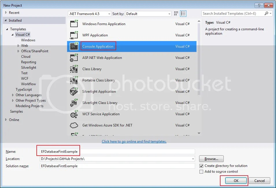 Entity Framework – Database First Approach Example   A