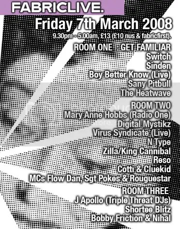 Fabric Live 7th March 08