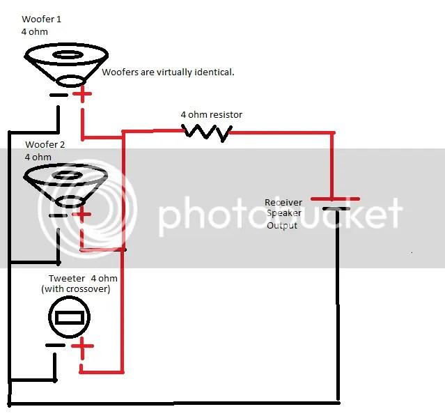 Series Parallel Wiring 8 Speakers Bi-Wire Speakers Wiring