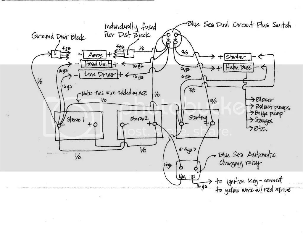 Wiring Diagram for Blue Sea Add A Battery (Switch + ACR Combo)
