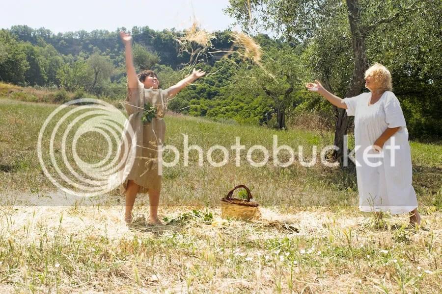 Franca Bassi e il nipote Buzzichino recitano per Principessa Orchidea Cegliese