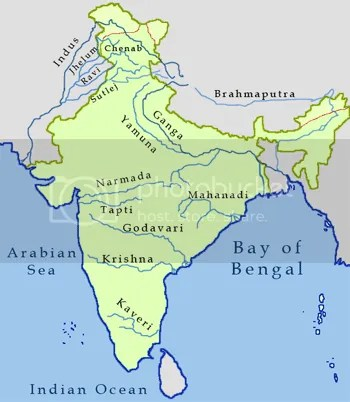 India Rivers Map