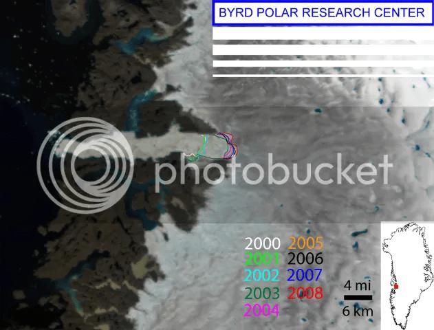 Jakobshaven Glacier August 2008