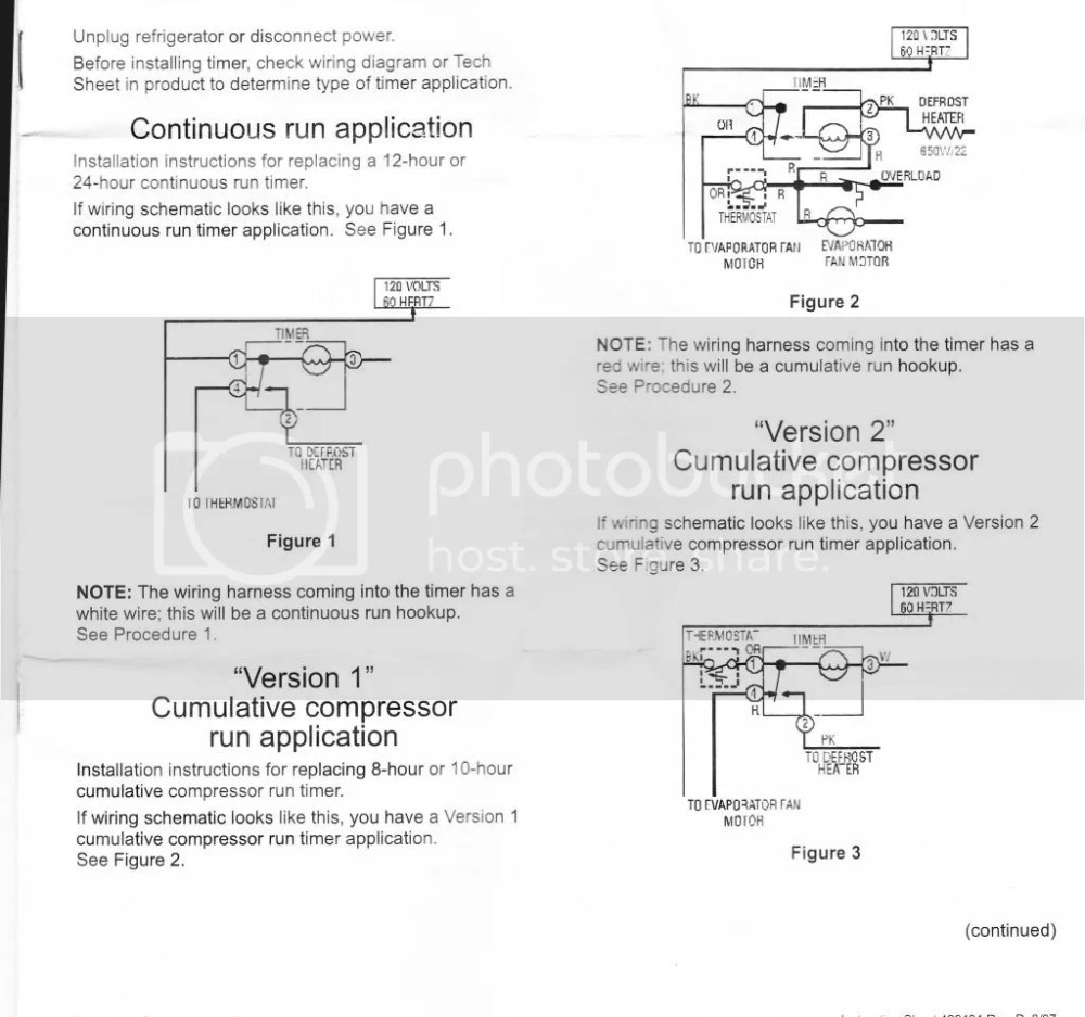 medium resolution of here s the wiring diagram for the w10822278 defrost timer