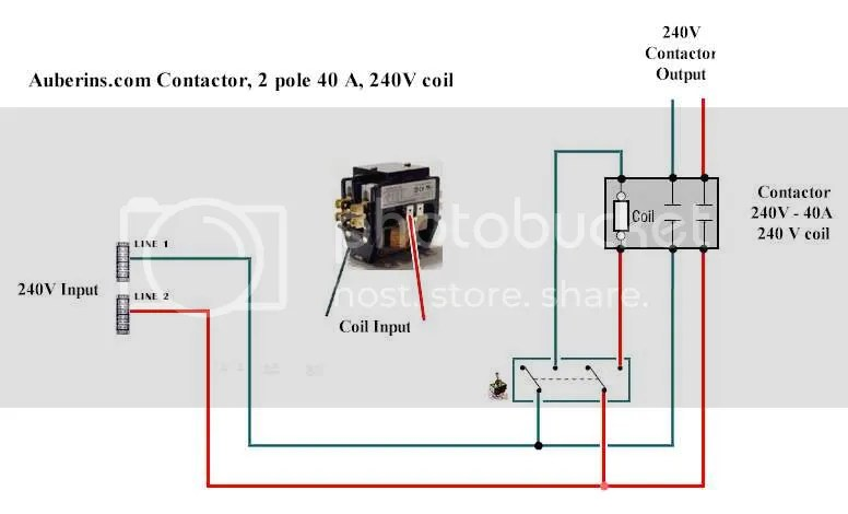 Contactor Wiring Diagram Underfloor Heating : Wiring diagram for a contactor powerking