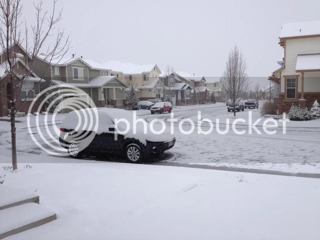 it snowed overnight in Denver