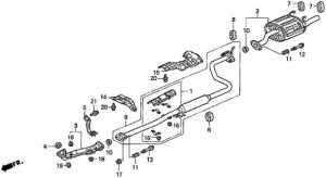 exhaust diagram for 97 dx hatch  HondaTech
