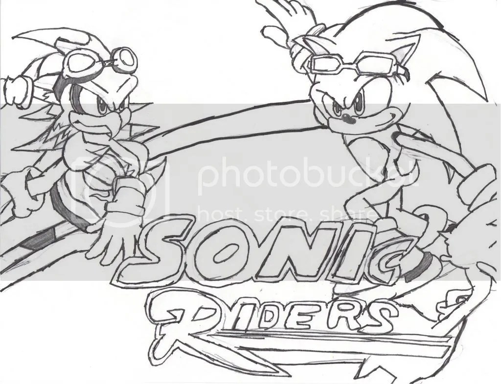 Free coloring pages of sonic free riders shadow