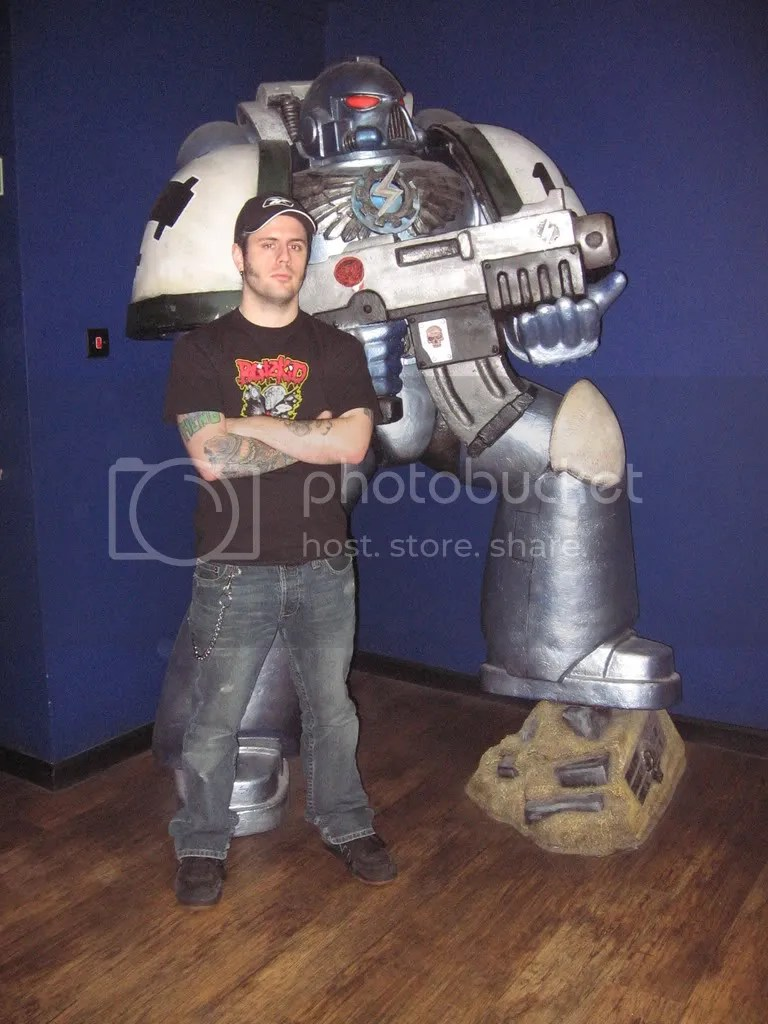 My humble self with one of the Emperors finest - Warhammer World, Nottingham, September 2007