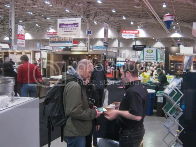 Geothermal installer at National Home Show in Toronto, at the Better Living Center at CNE
