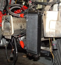 that cost about 30 bucks hope size 10 line isn t too big but if a 944 4 banger can handle it so can my a4 here s some pics 55 oil cooler setup  [ 1024 x 768 Pixel ]