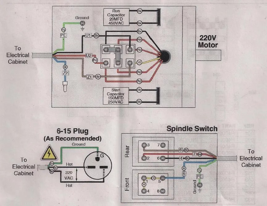 Diagram On Wiring Diagram Moreover Capacitor Start Run Motor