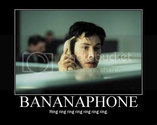 Phoning someone: totally arb.