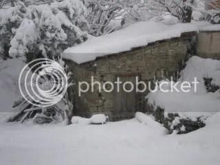 Het sneeuwt in Merana