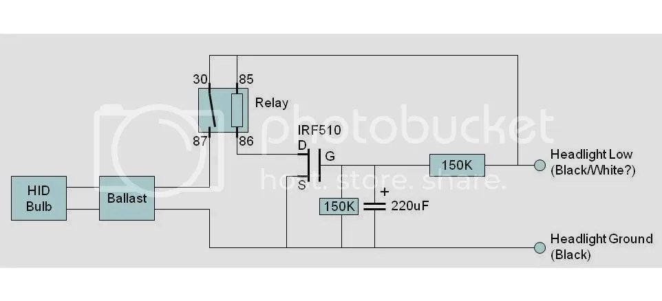 HID relay harness buzz solution