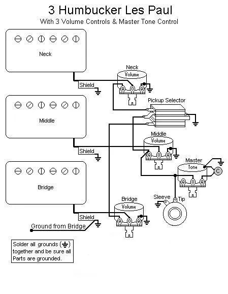 Les Paul 2 Pickup Wiring Diagram: Harmony guitar wiring