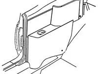 1965 Pontiac Tempest, Lemans, GTO Conv Rear Armrest Cover