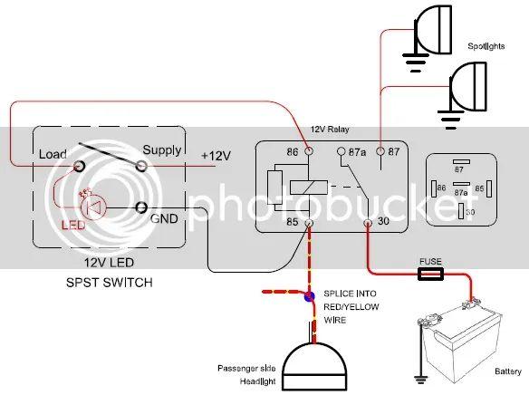 spotlight wiring loom diagram