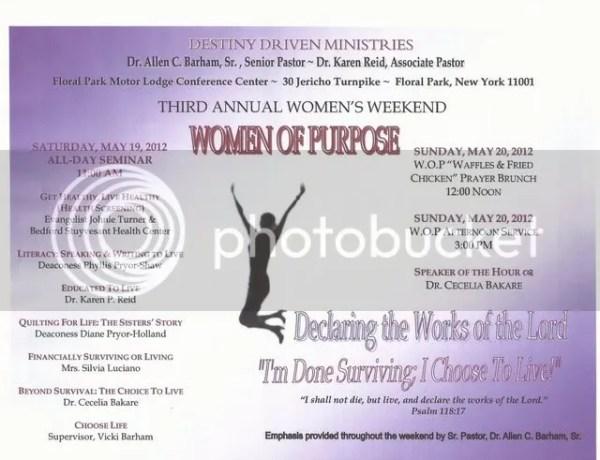 Destiny Driven Women of Purpose Conference