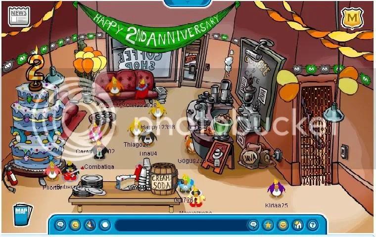 Coffe Shop com a festa