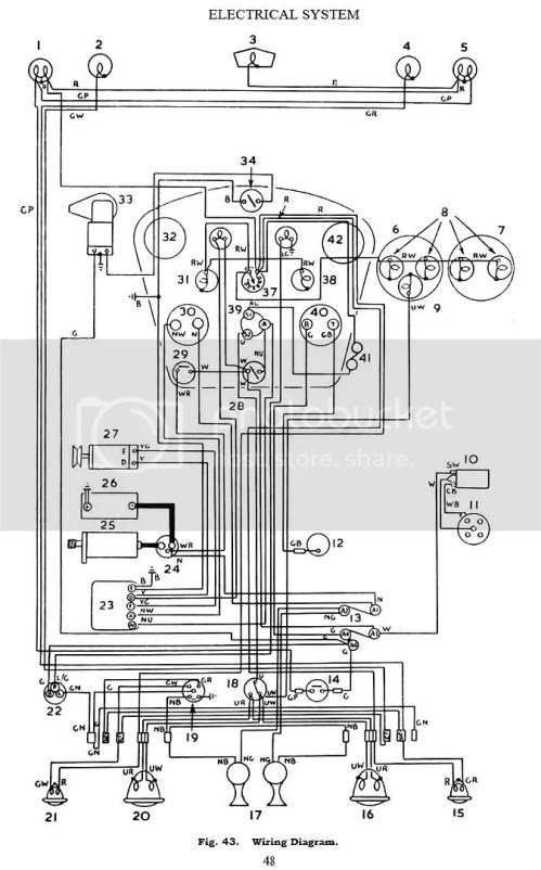 small resolution of tr2 3 3a dash light variable resistance tr3 metropolitan nash color wiring diagram austin healey wiring