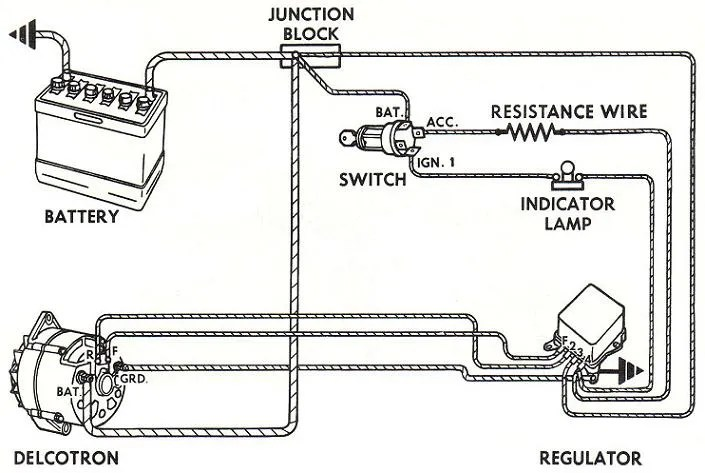 alternator diagram wiring ge dryer motor how dow i wire up a one is with regulator and the other without