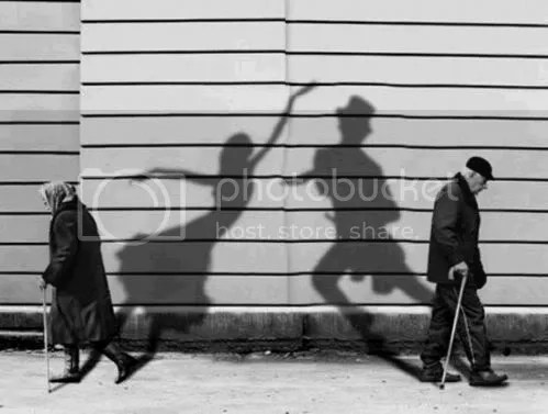Old Man / Old Woman Dancing Shadows