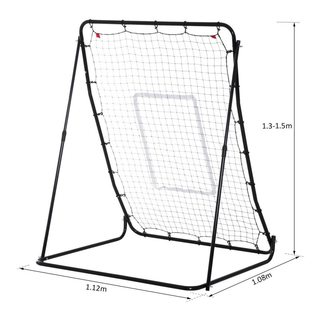HOMCOM Multi Sports Net Baseball Trainer Rebounder Throw