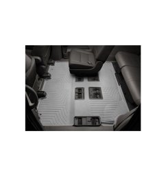 weathertech 4612955 2nd 3rd row rear auto floor mat for 2018 2019 ford expedition max gray on onbuy [ 990 x 990 Pixel ]