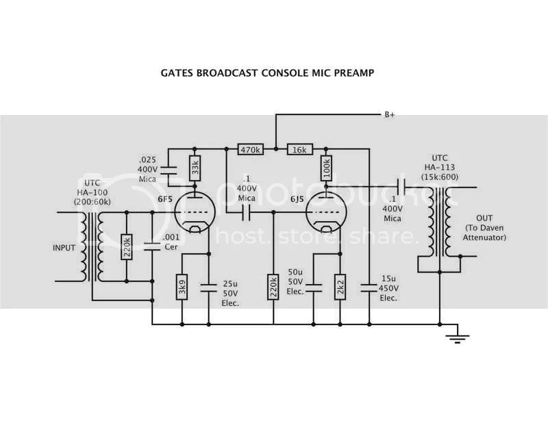Help with Gates tube mic preamp???