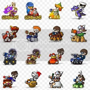 Các nhân vật chính gunbound
