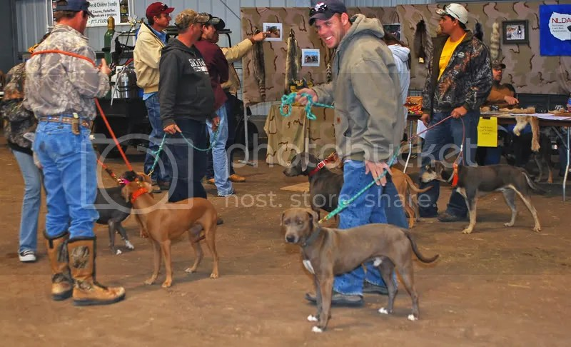 Robby and Patch welcoming the hunters after weigh-in.
